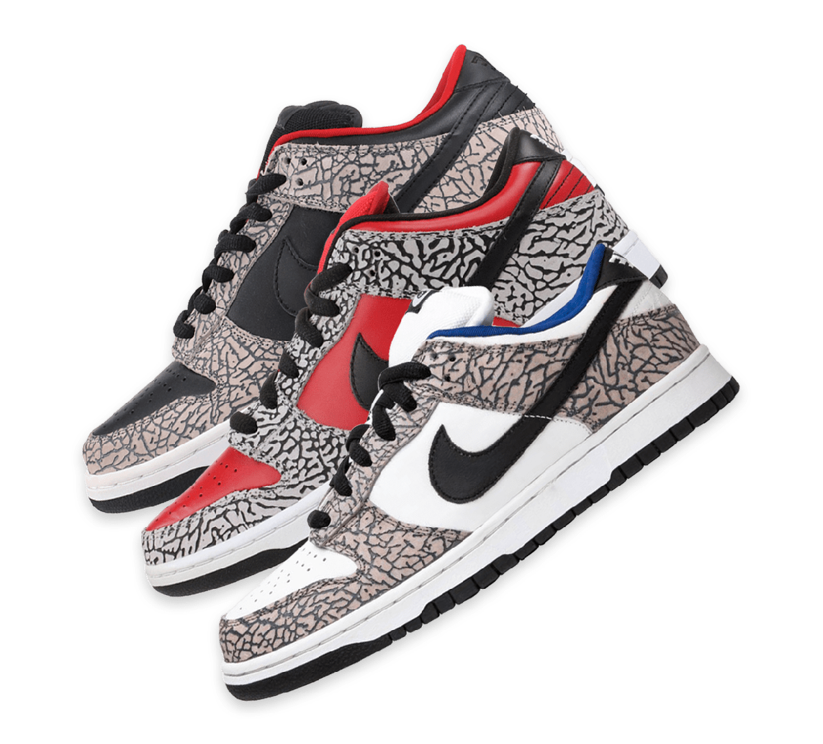 Nike SB Dunk Low Supreme Cement Collection Image