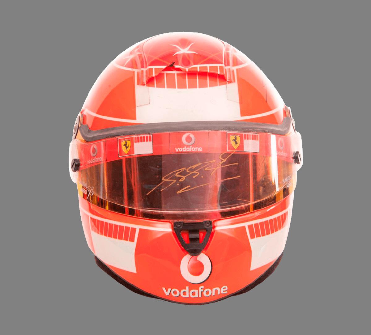 Michael Schumachers Racing Helm signiert Image