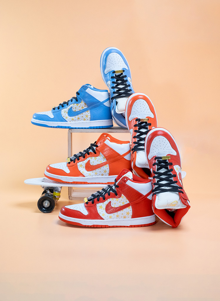 Nike SB Dunk High Pro Supreme Collection Overview Leiter